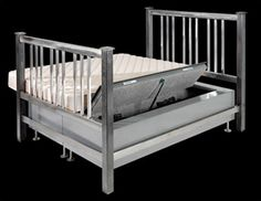 A bed with built in gun safe.. If Alex ever saw this we would own one.