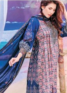 Five Star Printed Lawn Unstitched 3 Piece Suit – Spring / Summer Collection - Pakistani dresses Simple Pakistani Dresses, Pakistani Fashion Casual, Pakistani Dress Design, Pakistani Outfits, Pakistani Kurta, Pakistani Lawn Suits, Stylish Dresses For Girls, Stylish Dress Designs, Simple Dresses