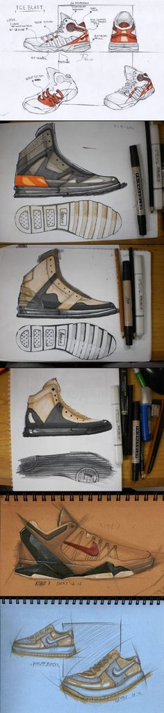 footwear sketch and rendering. dicky taufik ismail - created via http://pinthemall.net