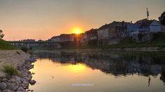Morning shine on the river Kupa