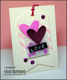 Vicki Dutcher: All I Do Is Stamp –  A Bunch of Challenges! - 2/5/15 (Pin#1: Valentines: Shaker)