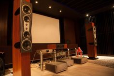Build Your Own Custom Made Entertainment Center: Interesting Custom Built Home Entertainment Center Interior Great Sound System For Your Movie Room Setup Wth Big Deal Projector Cool Lighting Decorations ~ enokae.com Entertainment Room Inspiration