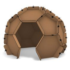 Instant cardboard geodesic dome