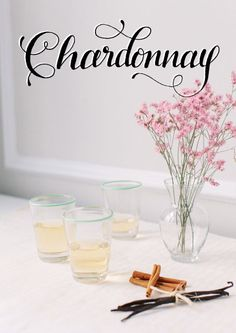 Wine Education and Tasting 101 // Chardonnay // Vanilla // Cupcake Vineyard Wines // Styling by @Alaina Kaczmarski // Photography by Stoffer Photography // Lettering by  Jenna Blazevich
