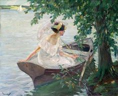 Edward Cucuel - An Outing by Boat