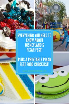 Everything You Need to Know about Disneyland's Pixar Fest! PLUS a Printable Pixar Fest Food Checklist! Disneyland Vacation, Disney Vacation Planning, Disney Vacations, Disney World Food, Disney Parks, Disney Pixar, Disney California Adventure Park, Family Adventure, April 13
