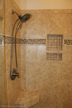 Bathroom Remodeling Huntsville Al shower shelf. custom tile work | bathroom renovations | pinterest