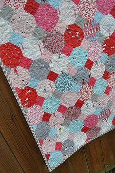 Sherbet Pips Snowball Quilt | Flickr - Photo Sharing!