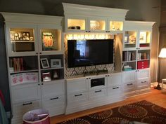 Materials: Besta bookcases, shelf units, Dioder LED strips Description: My wife desperately needed some bookcases in her rather large home office, and I'm neither a carpenter nor rich enough to pay someone $8K for custom units. But, I've done quite a few trim projects around the house and have previously transformed some other Ikea pieces, …