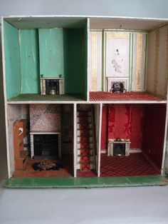 antique english silber fleming dollhouse interior antique english country armoire circa 1830s