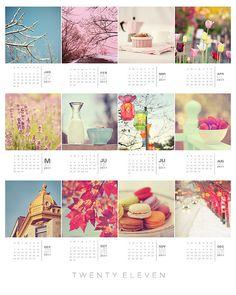 I made this for my studio, calendar 2011