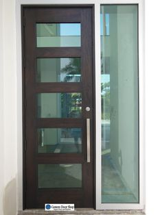 Amazing front doors! Contemporary mahogany double wood doors with ...
