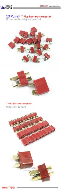 10 Pairs* T-Plus battery connecter(Fiber Material good quality)