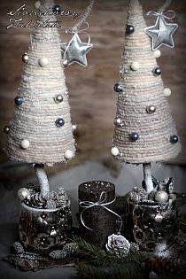 White Sun Cottage: toukokuuta 2015 na Stylowi. Christmas Tree Beads, Mary Christmas, Christmas Tree Crafts, Christmas Makes, Rustic Christmas, Christmas Projects, Holiday Crafts, Christmas Holidays, Christmas Decorations