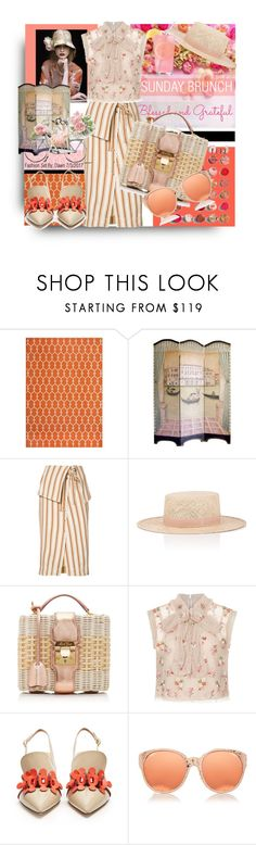 """Sunday Brunch"" by dawn-lindenberg ❤ liked on Polyvore featuring Momeni, Maria Bonita, Rosie Assoulin, Janessa Leone, CK One, Mark Cross, Needle & Thread, SemSem, Anya Hindmarch and Linda Farrow"