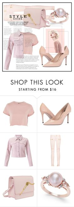 """"""": pastely pink :"""" by fhawn ❤ liked on Polyvore featuring Topshop, Paul Smith, Miss Selfridge, Balmain, Sophie Hulme, Marc, Pink and pastel"""
