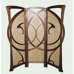 William Doub Custom Furniture - Autumn Wind Art Nouveau Screen ❤ liked on Polyvore featuring home, home decor, fall home decor, door screen, art nouveau home decor and autumn home decor