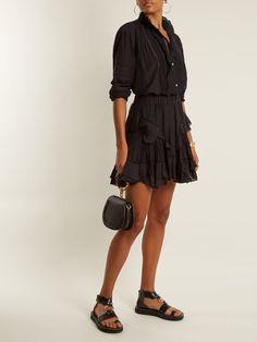 Isabel Marant Étoile Varese ruffled cotton-blend mini skirt at MATCHESFASHION.COM