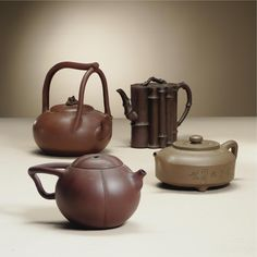 A group of four 'Yixing' teapots and covers Qing dynasty, 18th / 19th Century - Sotheby's