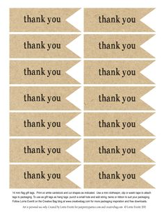 graphic regarding Free Printable Thank You Tags for Favors referred to as 134 Excellent Sticker templates shots in just 2019 Printable labels