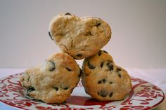 Chocolate Chip Valentine's Scones {scone recipe} - Home Stories A to Z