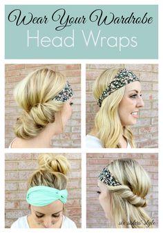 4 Ways to Wear a Head Wrap | SixSistersStyle.com