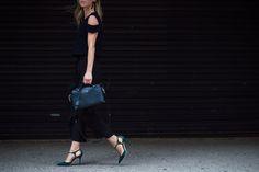 Off-the-Shoulder Season - New York Fashion Week Spring 2016 Street Style-Wmag