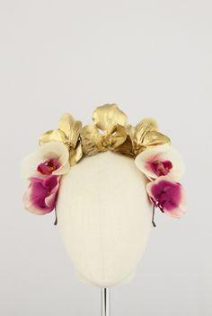 Orchid Crown | Reny Kestel Millinery