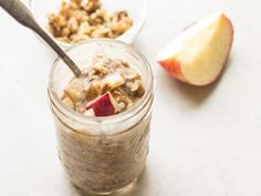 Overnight Oats Recipe Healthy 8 Classic Overnight Oats Recipes You Should Try Wholefully, 20 Healthy Overnight Oatmeal Recipes Jeanettes Healthy Living, Overnight Oats Recipe Food Network, Apple Overnight Oats, Peanut Butter Overnight Oats, Food Network Recipes, Cooking Recipes, Cooking Time, Vegetarian Recipes, Oatmeal Recipes, Apple Recipes, Pumpkin Recipes
