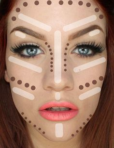 Contouring Tutorial: How To Make Face Look Slimmer. Best tips on how to achieve perfect looking foundation. Makeup Tricks and Beauty Ideas. | Makeup Tutorials http://makeuptutorials.com/5-tutorials-teach-make-face-look-thinner/