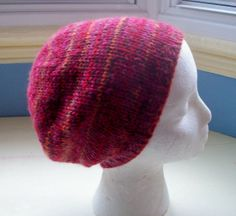 Unisex beanie hat 100 wool hand knitted Classic by SpinningStreak, $28.00