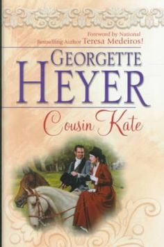 Cousin Kate by Georgette Heyer, queen of the Regency romance. I grew up on Georgette Heyer books! Each is a detailed look into a not-so-long-ago world of strict manners and moral standards, with yummy love stories included! I Love Books, Books To Read, My Books, Georgette Heyer, A Writer's Life, Spirituality Books, Romance And Love, I Love Reading, What To Read