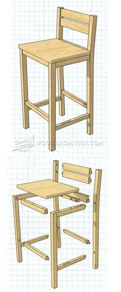 DIY Bar Stools - Furniture Plans and Projects | WoodArchivist.com