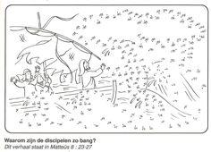 waarom zijn de discipelen zo bang? Jezus kalmeert de storm van stip naar stip