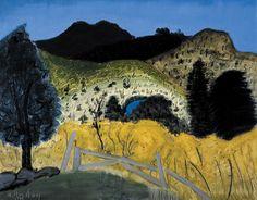 Milton Avery  Green Landscape, 1945 on paper