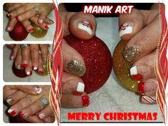#ongles #noel #nails #nailart #original #christmas #red #white #design #rouge #blanc Nailart, Merry Christmas, The Originals, Design, Ongles, Red, Noel, Merry Little Christmas, Happy Merry Christmas