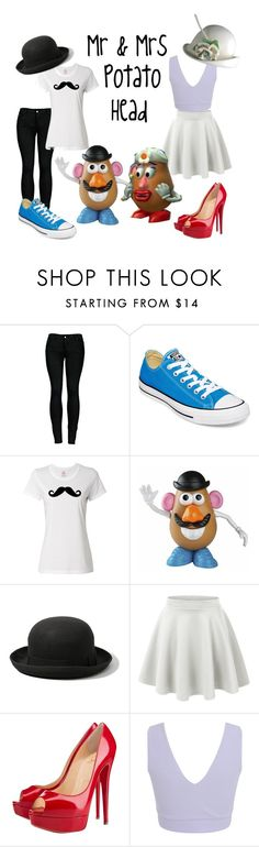 """""""Toy Story: Mr & Mrs Potato Head"""" by x-sweetea-x ❤ liked on Polyvore featuring 2LUV, Converse, Abercrombie & Fitch, LE3NO, Christian Louboutin and Miss Selfridge"""