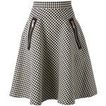 COAST+WEBER+AHAUS full midi houndstooth skirt and other apparel, accessories andestilo retro trends. Browse and shop 8 related looks. Cute Skirts, A Line Skirts, Short Skirts, Skirt Outfits, Dress Skirt, Skirt Midi, Mode Collage, Calf Length Skirts, Houndstooth Skirt