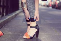 ASOS HAYDEN Heeled Sandals with Ankle Strap