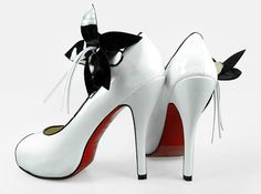 black and white wedding shoes!