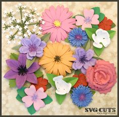 3D Flowers SVG Kit Part II - from SVGCuts.com - I have this kit and it is awesome!