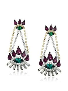 Courtney Lee Swarovski Crystal Gabby Earrings