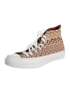 Missoni for Converse Chevron Print High-Top Sneakers