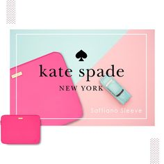 Do you want your day more pink?  New in Stock Kate Spade Newyork Saffiano Sleeve series for Macbook 13 inch  Available in Pink