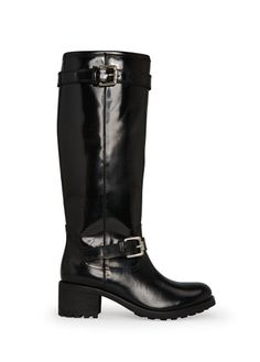 Glossed-leather knee boots #FW13 #MANGO