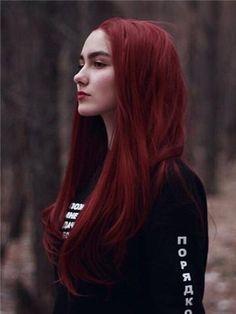 Long rose Dark red straight synthetic wig with lace # long # .- Lång ros Mörkröd rak syntetisk peruk med spets Long rose Dark red straight synthetic wig with lace # dark red - Red Hair Inspo, Red Hair Trends, Wine Red Hair Color, Deep Red Hair Color, Ombre Hair Color, Magenta Hair Colors, Pinkish Red Hair, Ruby Red Hair, Blood Red Hair