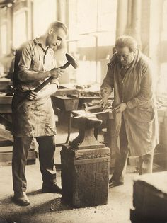 Master Blacksmith Samuel Yellin; his forge continues at www.samuelyellin.com