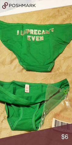 VS panties Green Victoria's Secret Intimates & Sleepwear Panties