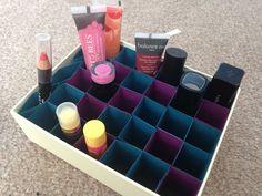DIY Lipstick Holder Organiser Tutorial