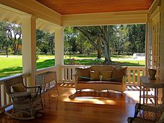 Sunny porch at the Edison & Ford Winter Estates | by vicequeenmaria, via Flickr